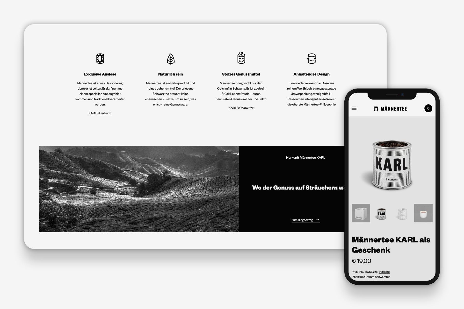 Männertee Website